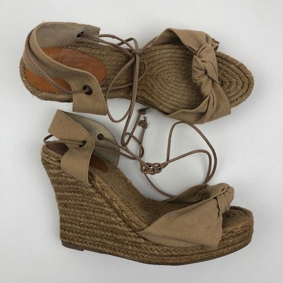 1d3288b37ccd Castaner lace-up espadrilles wedges. â ¤ï¸ NWOT Castaner Carina Canvas  Espadrilles Heels